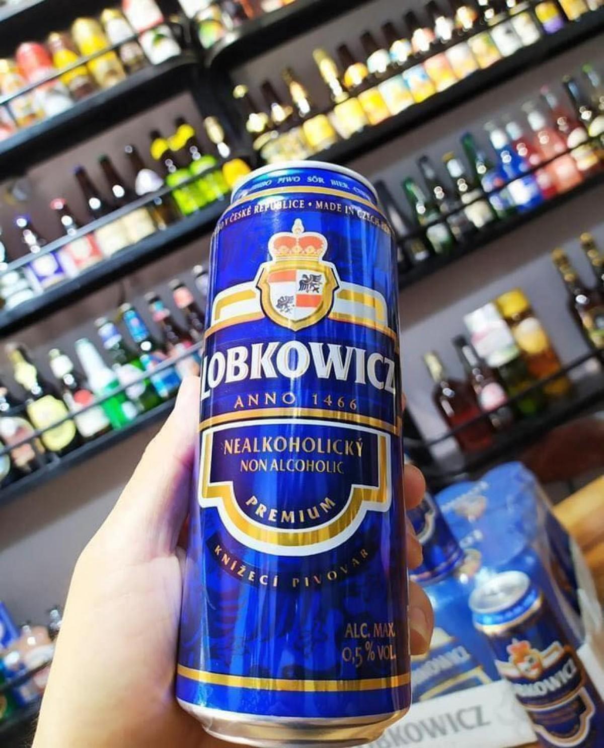 Bia Lobkowicz Nealko Non Alcoholic Pale Ale 0.5%-Lon 500ml