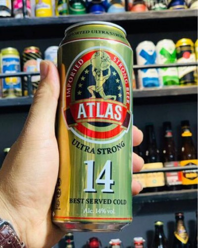 Bia Atlas Utltra Strong 14%-Lon 500ml