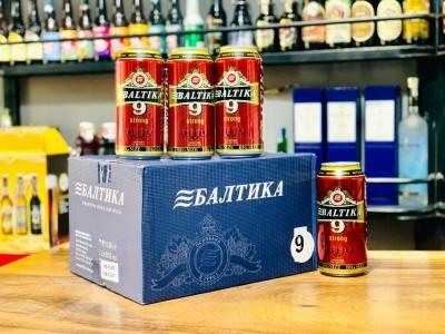 Bia Baltika số 9 8%-Lon 900ml