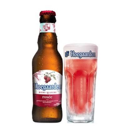 Bia Hoegaarden Rosee 3,3% Bỉ-chai 248ml