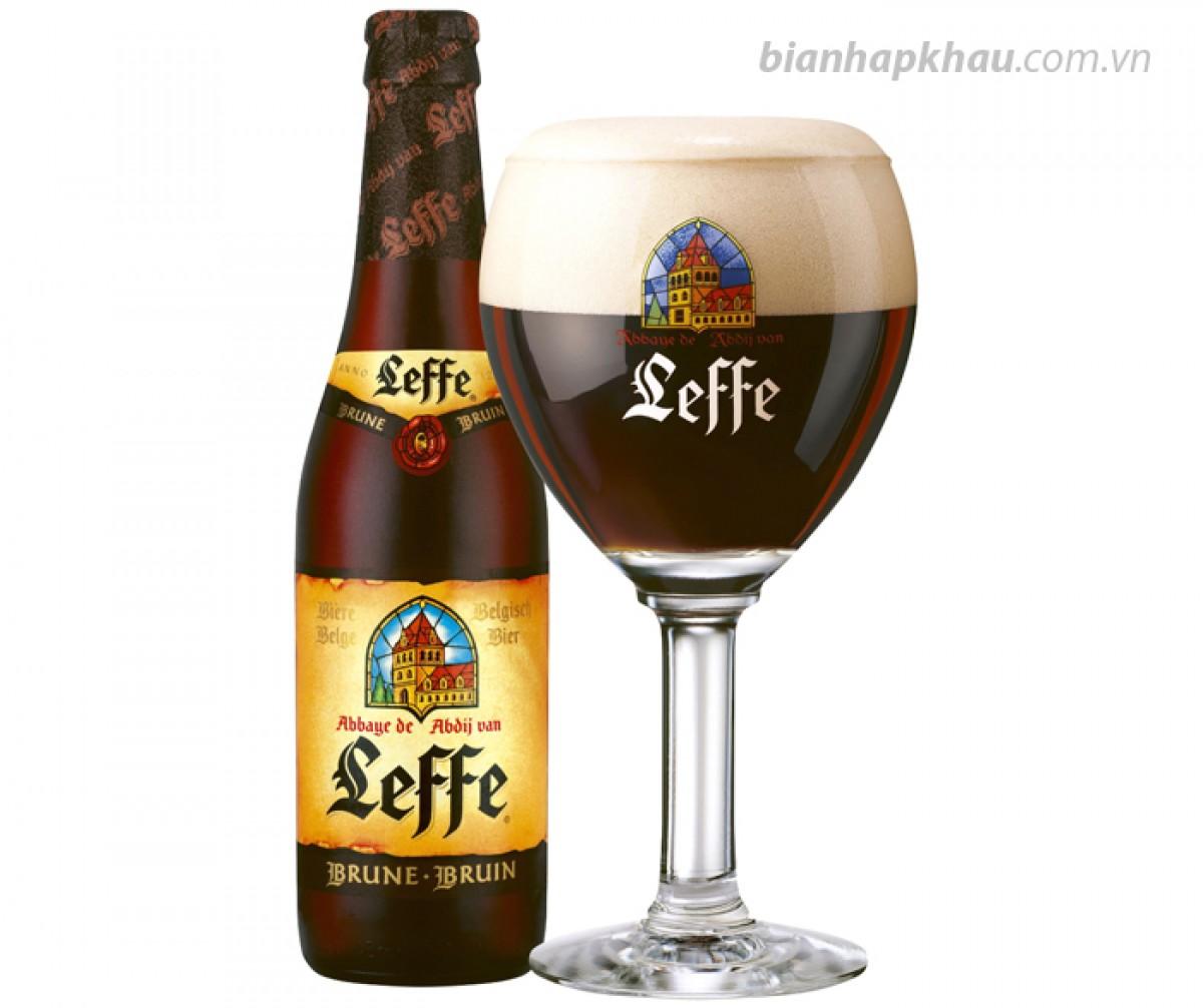 Bia Leffe nâu 6,3% - chai 330ml