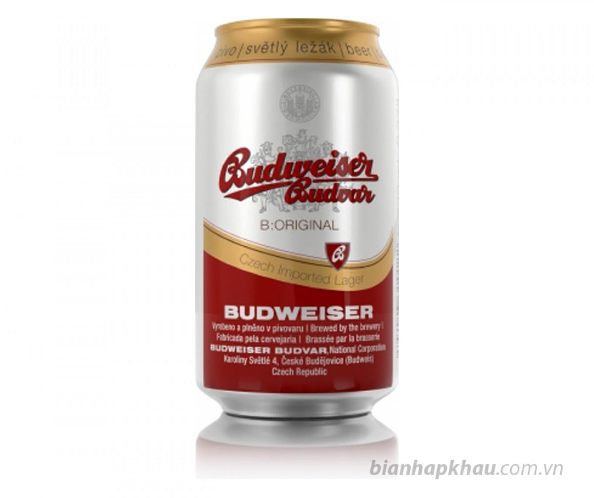 Bia Budweiser Budvar Original 5% - lon 330ml