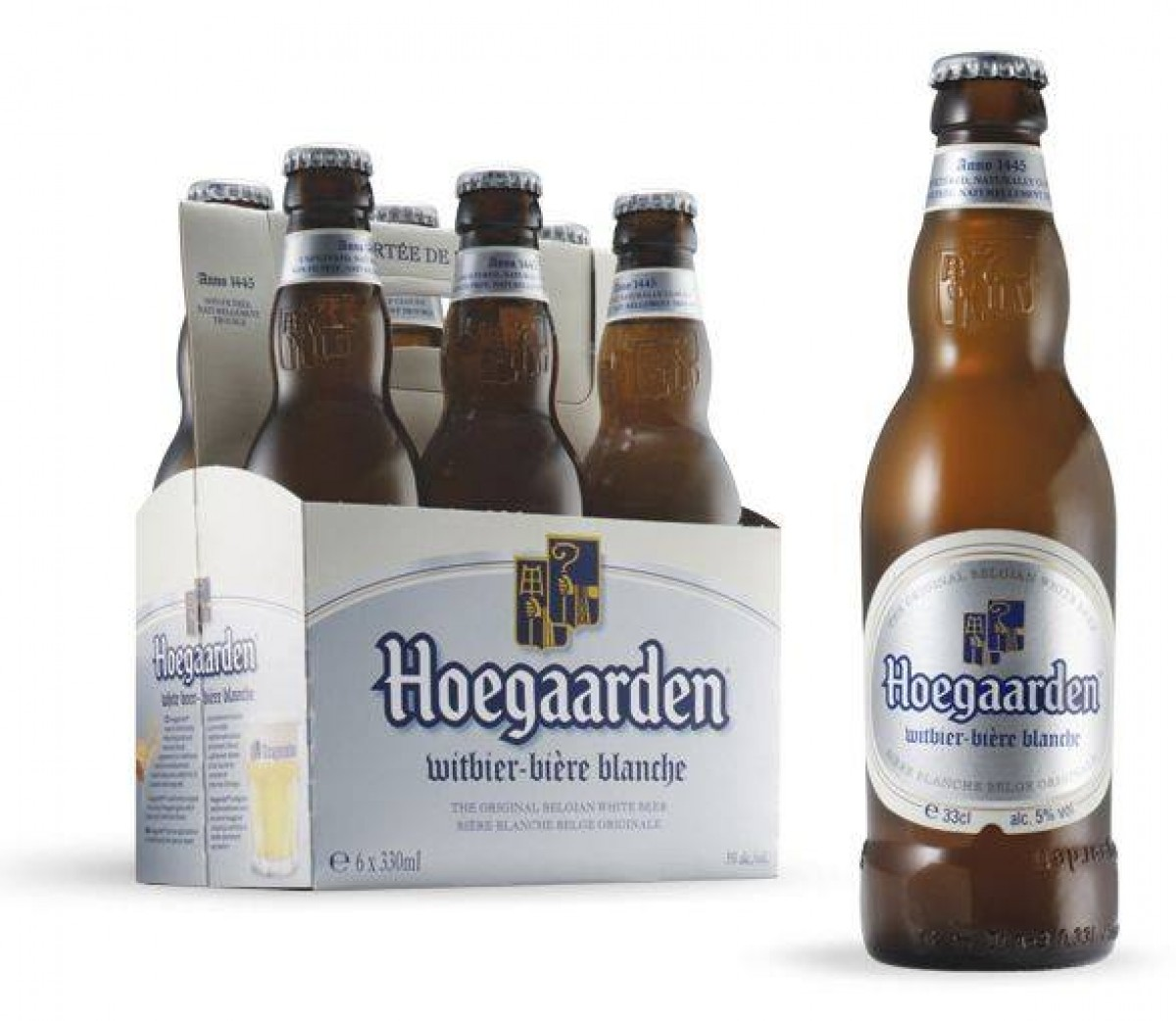 Bia Hoegaarden 4,9% - chai 330 ml