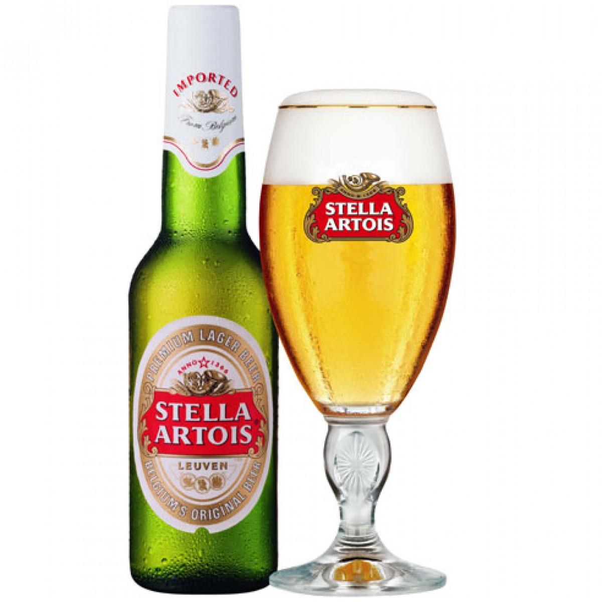 Bia Stella Artois 5% - chai 330 ml