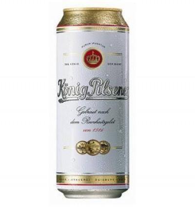 Bia Konig Pilsener  4,9%  - lon 500 ml