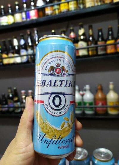 Bia Baltika 0 Unfiltered Wheat 0%-lon 450ml
