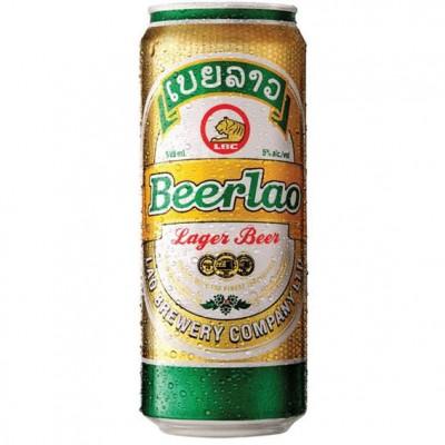 Bia Beerlao Lager-lon 500ml