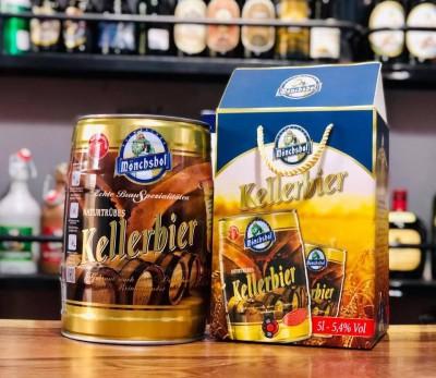 Bia Monchshof Kellerbier 5,4%-bom 5 lít