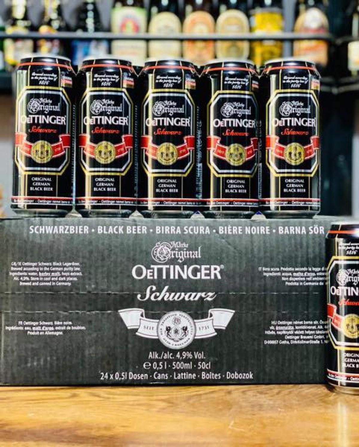 Bia đen Oetinger 4,9% - lon 500ml